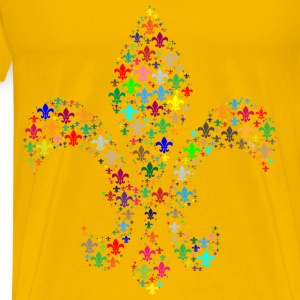 Colorful Fleur De Lis Fractal - Men's Premium T-Shirt