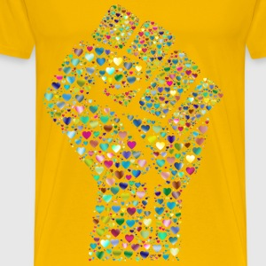 Colorful Fist Of Love 6 - Men's Premium T-Shirt