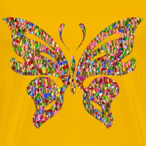 Iridescent Chromatic Butterfly 3 No Background - Men's Premium T-Shirt