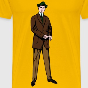 Man in brown/green suit - Men's Premium T-Shirt