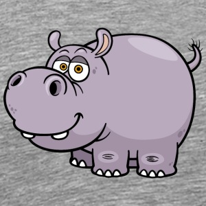 hippopotamus-animal-wildlife-smile - Men's Premium T-Shirt