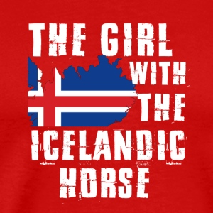The girl with the iclandic horse - Men's Premium T-Shirt