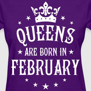 Queens are born in February birthday Crown Stars s - Women's T-Shirt