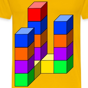 cube tower 08 - Men's Premium T-Shirt