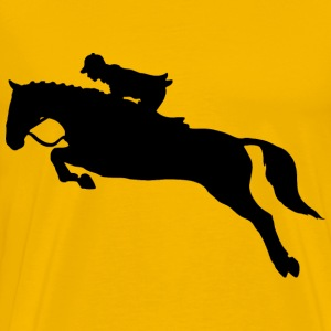 Horse Jumping Dressage Silhouette Without Hurdle - Men's Premium T-Shirt
