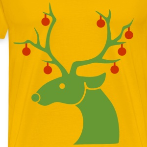 Christmas Reindeer - Men's Premium T-Shirt