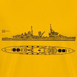 Belfast Battleship - Men's Premium T-Shirt