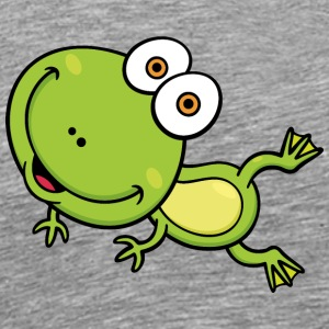 frog-wildlife-animal-smiling - Men's Premium T-Shirt