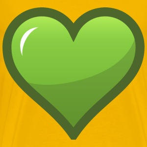 Green Heart Icon - Men's Premium T-Shirt