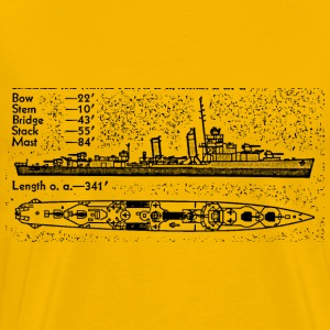 Mahan Battleship - Men's Premium T-Shirt