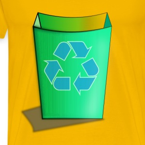 Green Recycle Bin - Men's Premium T-Shirt