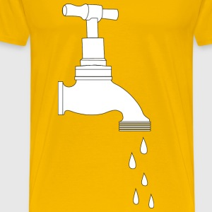 Dripping Tap Line Art - Men's Premium T-Shirt