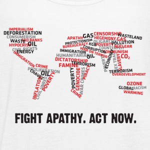 Fight apathy. Act Now! Tanks - Women's Flowy Tank Top by Bella