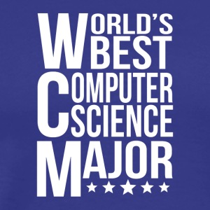 World's Best Computer Science Major - Men's Premium T-Shirt