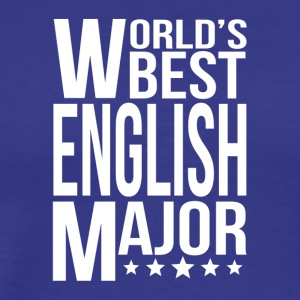 World's Best English Major - Men's Premium T-Shirt