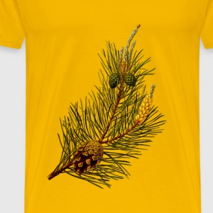 Scots pine (detailed) - Men's Premium T-Shirt