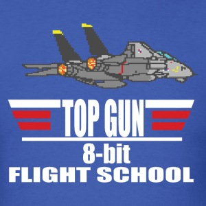 Top Gun 8 bit Flight School - Men's T-Shirt