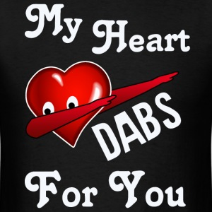 Valentine's Day Dabbing Heart  - Men's T-Shirt