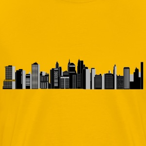 Cityscape Skyline - Men's Premium T-Shirt