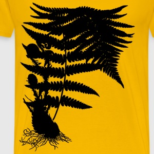 Male fern 2 (silhouette) - Men's Premium T-Shirt