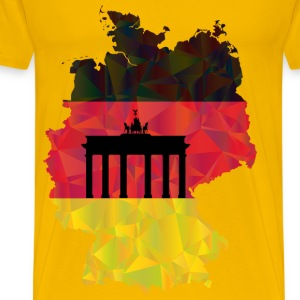 Germany Map Flag 3 - Men's Premium T-Shirt