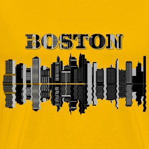 Boston Skyline Typography - Men's Premium T-Shirt