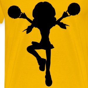 Cartoon Cheerleader Silhouette - Men's Premium T-Shirt