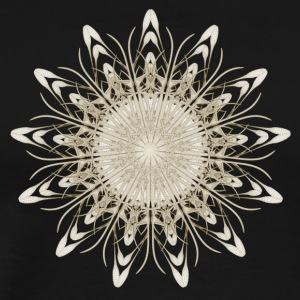 Flower Fractal Mandala Gold - Men's Premium T-Shirt
