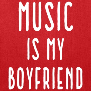 Music Is Boyfriend Quote Bags & backpacks - Tote Bag