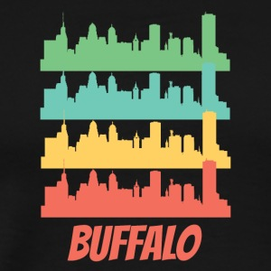 Retro Buffalo NY Skyline Pop Art - Men's Premium T-Shirt
