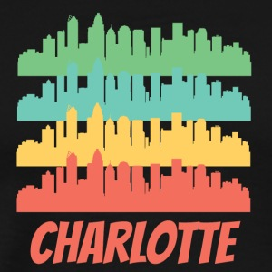 Retro Charlotte NC Skyline Pop Art - Men's Premium T-Shirt
