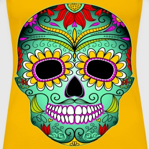 Day Of The Dead Tattoo Skull  - Women's Premium T-Shirt