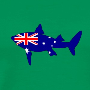 Australian Flag - Shark - Men's Premium T-Shirt