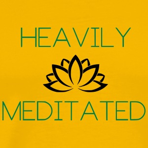 Heavily Meditated Yoga Yogi Design - Men's Premium T-Shirt