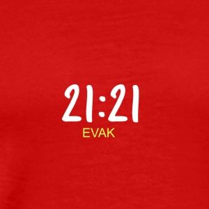 21:21 EVAK TEXT SKAM - Men's Premium T-Shirt