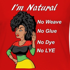 I'm Natural, No Weave,  - Women's Premium Long Sleeve T-Shirt
