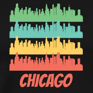 Retro Chicago IL Skyline Pop Art - Men's Premium T-Shirt