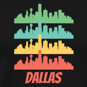 Retro Dallas TX Skyline Pop Art - Men's Premium T-Shirt