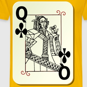 Queen of Clubs - Men's Premium T-Shirt