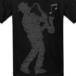 saxophone_player_notes_092016grau Kids' Shirts - Kids' T-Shirt