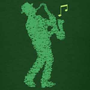 saxophone_player_notes_09201605 T-Shirts - Men's T-Shirt