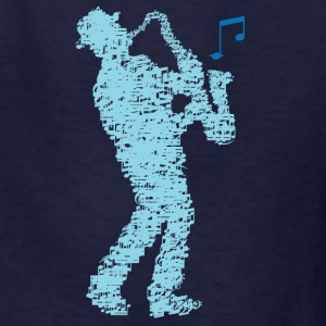 saxophone_player_notes_09201606 Kids' Shirts - Kids' T-Shirt