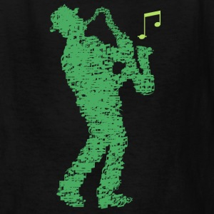 saxophone_player_notes_09201605 Kids' Shirts - Kids' T-Shirt