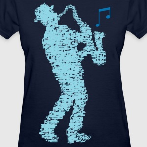 saxophone_player_notes_09201606 T-Shirts - Women's T-Shirt