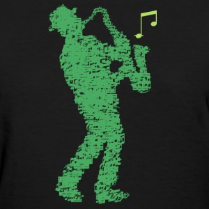saxophone_player_notes_09201605 T-Shirts - Women's T-Shirt