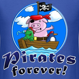 pirate_pig_penguin_frog_b T-Shirts - Men's T-Shirt