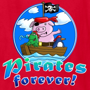 pirate_pig_penguin_frog_a Kids' Shirts - Kids' T-Shirt