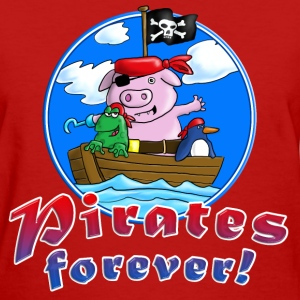 pirate_pig_penguin_frog_c T-Shirts - Women's T-Shirt