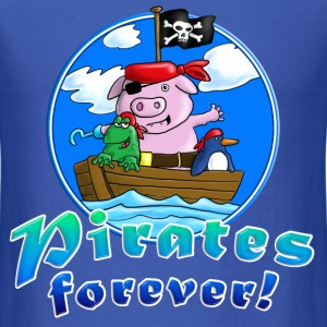 pirate_pig_penguin_frog_a T-Shirts - Men's T-Shirt
