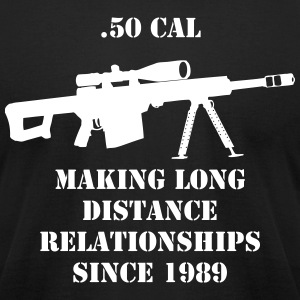 .50 cal Sniper Riffle T-Shirts - Men's T-Shirt by American Apparel
